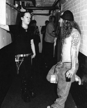 Joey Jordison And Wedn... Antichrist Cross Symbol